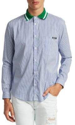 MSGM Contrast Collar Shirt