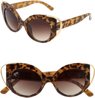 Cat Eye NEM Audrey 50mm Cutout Sunglasses