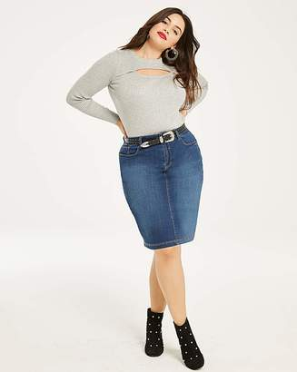Fashion World Everyday Denim Pencil Skirt