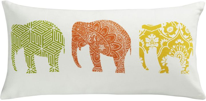 CB2 Elephants Pillow