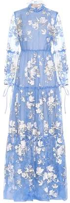 Erdem Cassandra embroidered silk gown