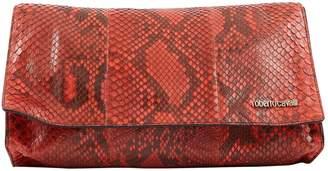 Roberto Cavalli Python clutch bag