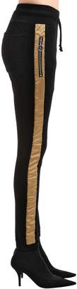 Skinny Gold Stripe Sweatpants