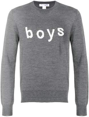 Comme des Garcons Boys printed long sleeved sweater