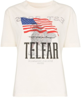 Telfar Simple Tour boxy fit short-sleeved cotton T-shirt
