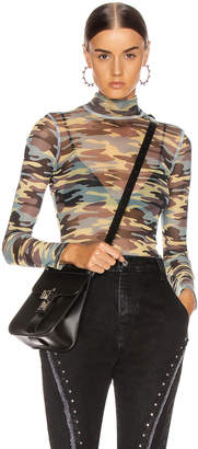 Sandy Liang Promise Top in Camo | FWRD