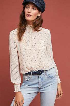 Anama Gloria Polka Dot Blouse