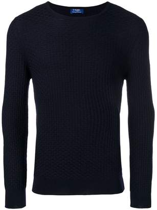 Barba scallop jacquard jumper