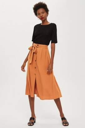 Topshop Button Through Midi Skirt