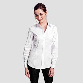 Sasha Plain Double Cuff Shirt $185 thestylecure.com