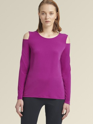 DKNY Long Sleeve Cold-Shoulder Top