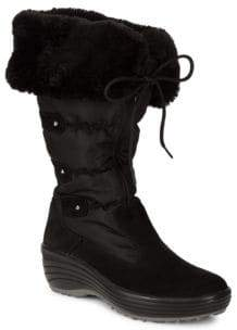 Malina Faux-Fur Waterproof Trimmed Boots