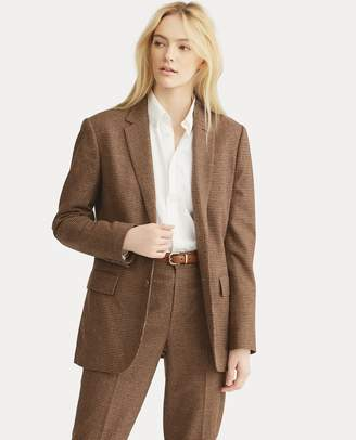 Ralph Lauren Houndstooth Tweed Blazer