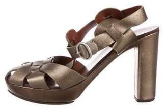 See by Chloe Metallic Ankle Strap Sandals
