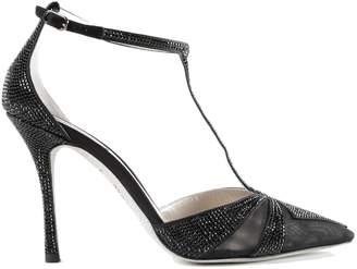 Rene Caovilla Embellished Ankle-strap Pumps