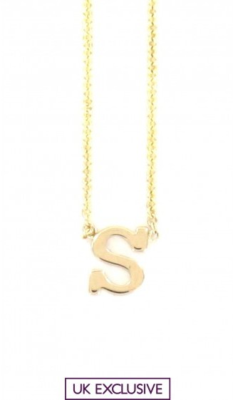 Zoe Chicco INITIAL NECKLACE S