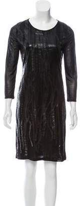 Maison Margiela Long Sleeve Knee-Length Dress