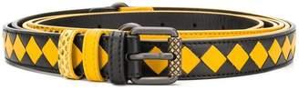Bottega Veneta intrecciato and snake effect belt