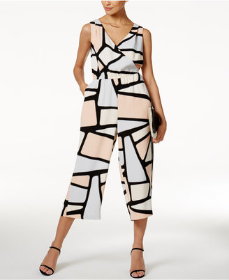 Alfani PRIMA Printed Cropped Jumpsuit, Only at Macy's $99.50 thestylecure.com