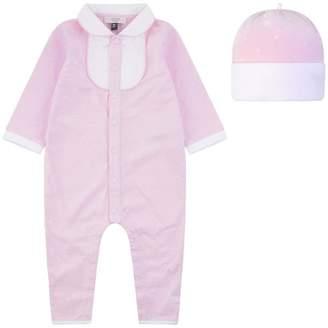 Armani Junior Armani JuniorGirls Light Pink Romper Gift Set