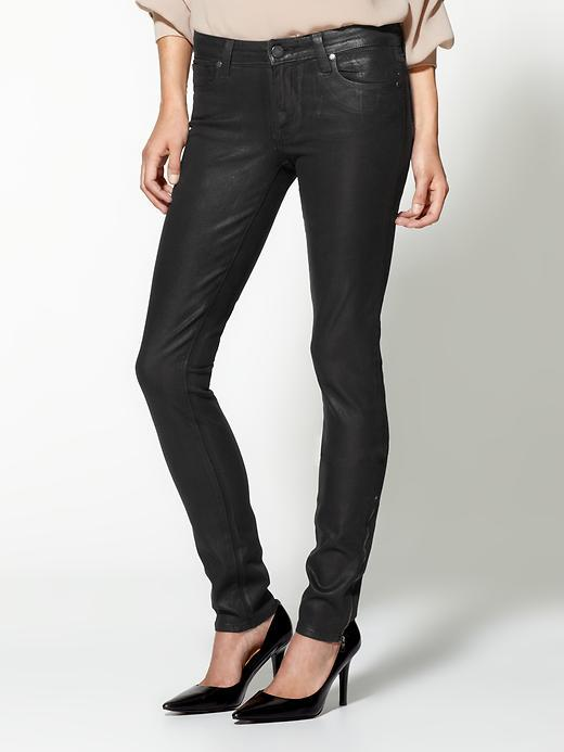 Paige Heavy Coating Eve Zip Skinny Jeans