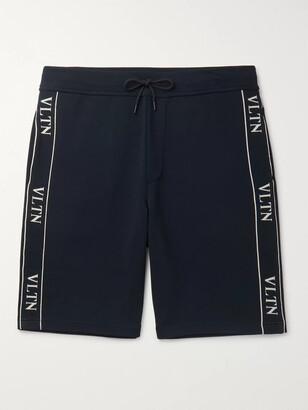 Valentino Logo-Jacquard Stretch-Knit Shorts