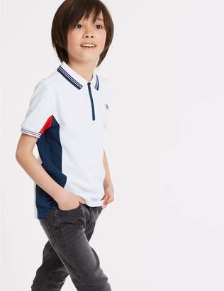 Marks and Spencer Pure Cotton Polo Shirt (3-16 Years)
