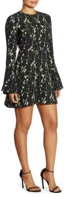 A.L.C. Trixie Printed Silk Mini Dress