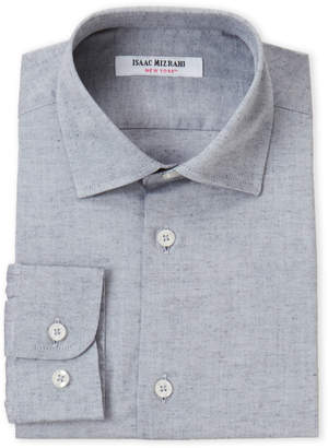Isaac Mizrahi Boys 8-20) Chambray Grey Dress Shirt