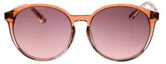 The Row Gradient Round Sunglasses