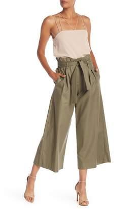 BCBGMAXAZRIA Paper Bag Wide Leg Culottes