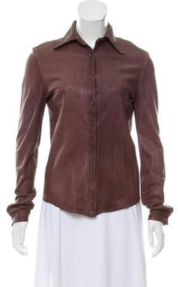 Giorgio Brato Distressed Leather Top