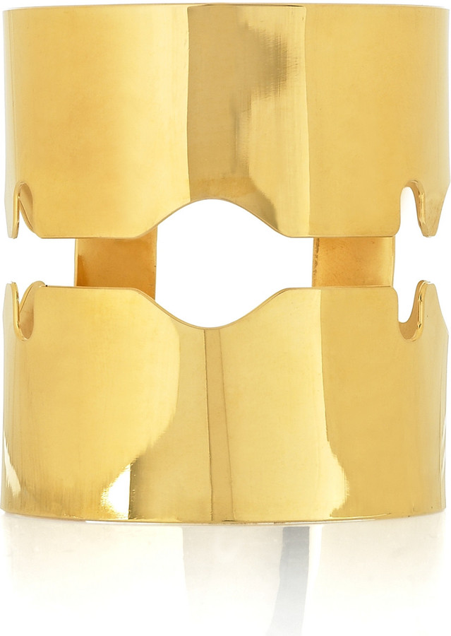 Tom Binns 24-karat gold-plated razor blade cuff