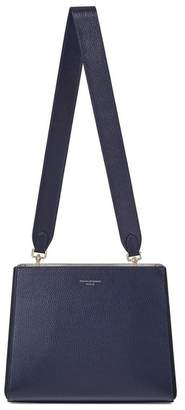 Aspinal of London Small Ella Hobo In Bluemoon Pebble With Plain Strap