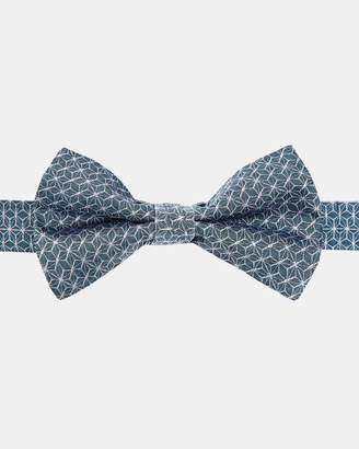 Ted Baker CABBOW Geo print silk bow tie