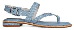 Kenneth Cole New York Tama Embossed Flat Sandals