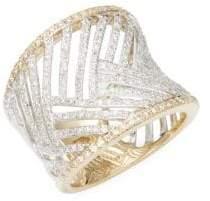 Effy 14K White Gold Diamonsd Cuff Bracelet