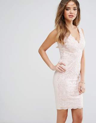 Lipsy Embroided Bodycon Dress