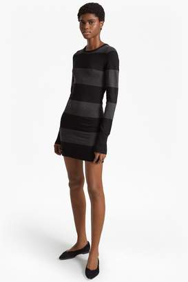 French Connection Rugby Stripe Knit Long Sleeved Jumper Dress