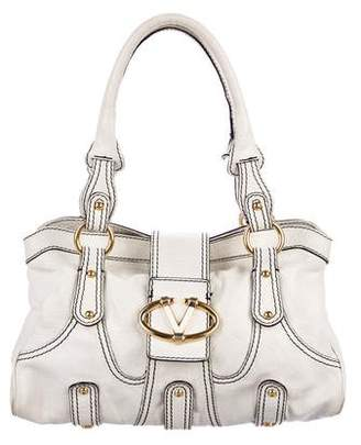 Valentino Leather Logo-Accented Shoulder Bag