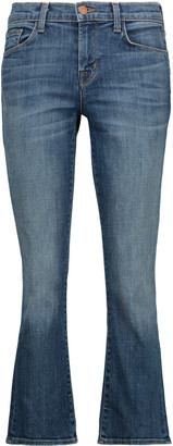 J Brand Selena mid-rise cropped bootcut jeans $238 thestylecure.com
