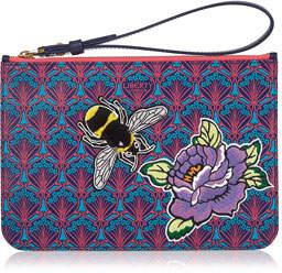 Liberty London Multi Bee Patch Wristlet Bag
