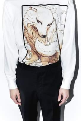 3.1 Phillip Lim Wolf Spirit Animal Long-Sleeve Pullover