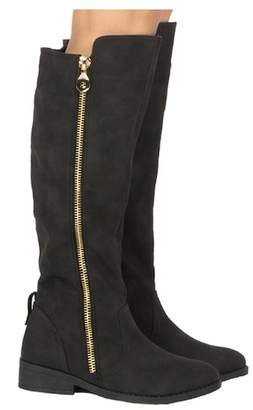 Qupid Plateau Side Zip Over the Knee Riding Boot