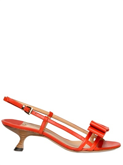 O Jour 50mm Smooth Leather Bow Sandals