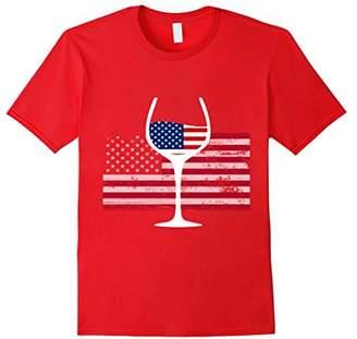 Wine flag american shirt for men