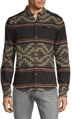 Scotch & Soda Printed Flannel Button-Down Shirt