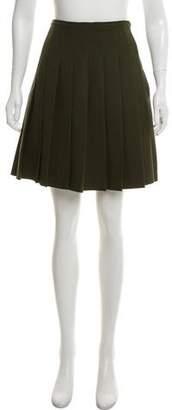 Prada Wool Pleated Mini Skirt