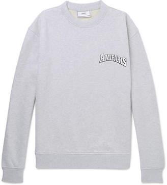 Ami Logo-Print Loopback Cotton-Jersey Sweatshirt