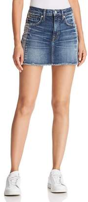 Hudson Viper Denim Mini Skirt in Rip Love